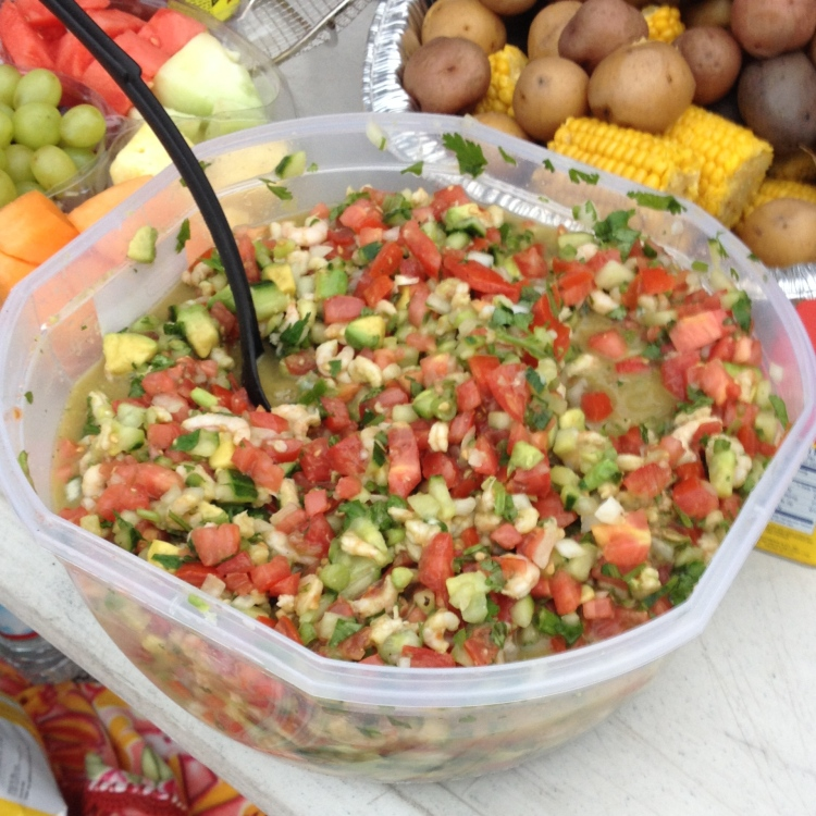 The mothers made ceviche, among other things.